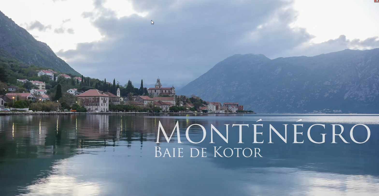 video baie de kotor